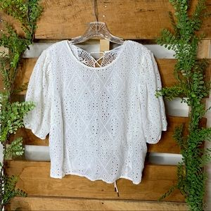 Forever 21 | White Eyelet Lace Top